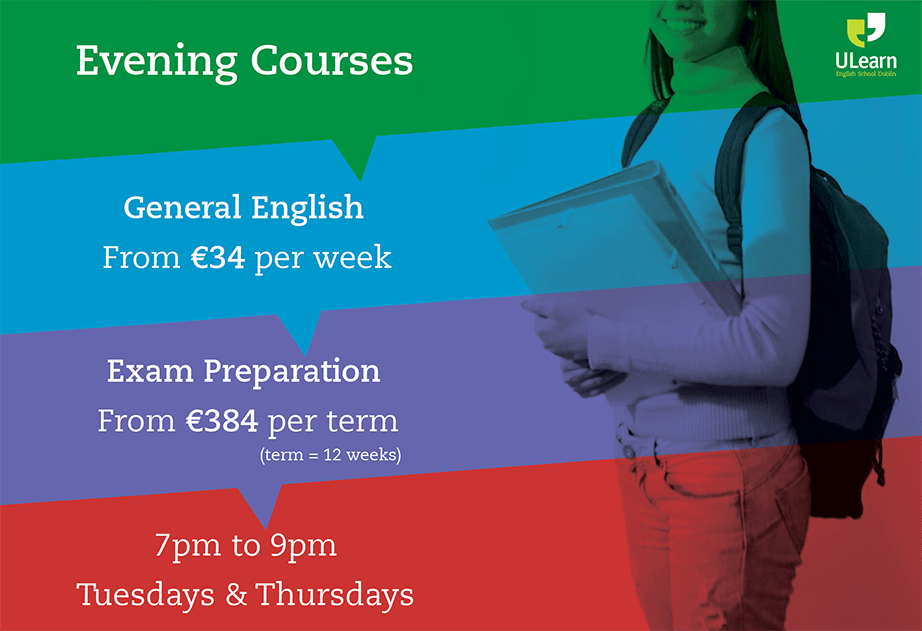 ulearn english school dublin part-time corso serale curso de la noche
